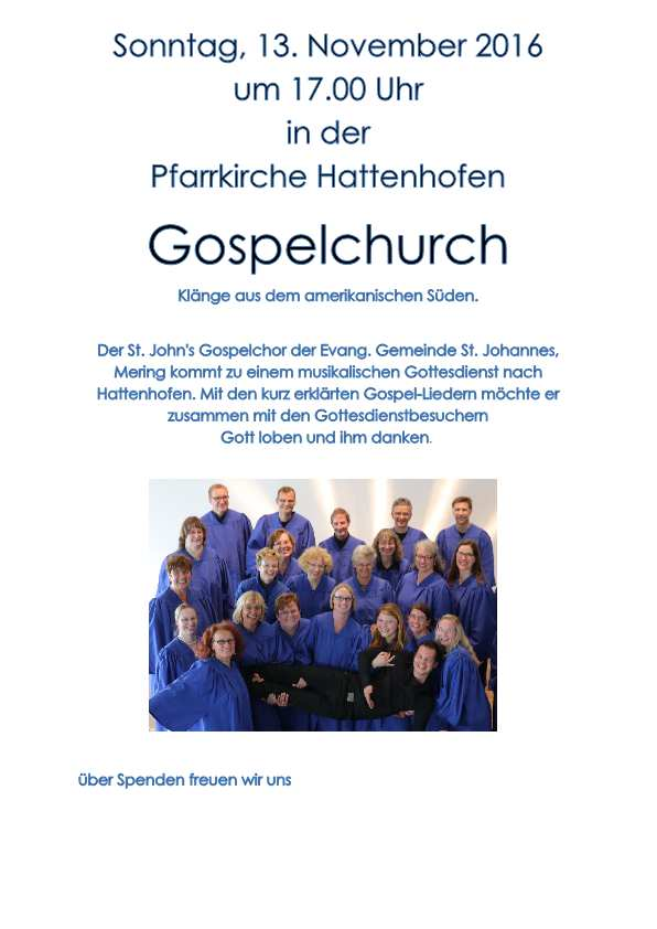Gospelchurch am 13. November